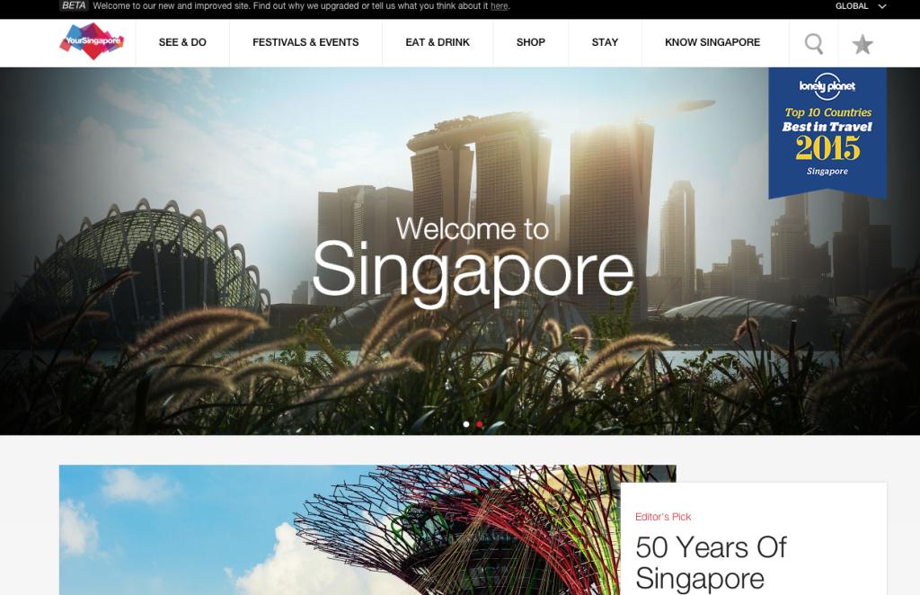 Pagina Web Singapore
