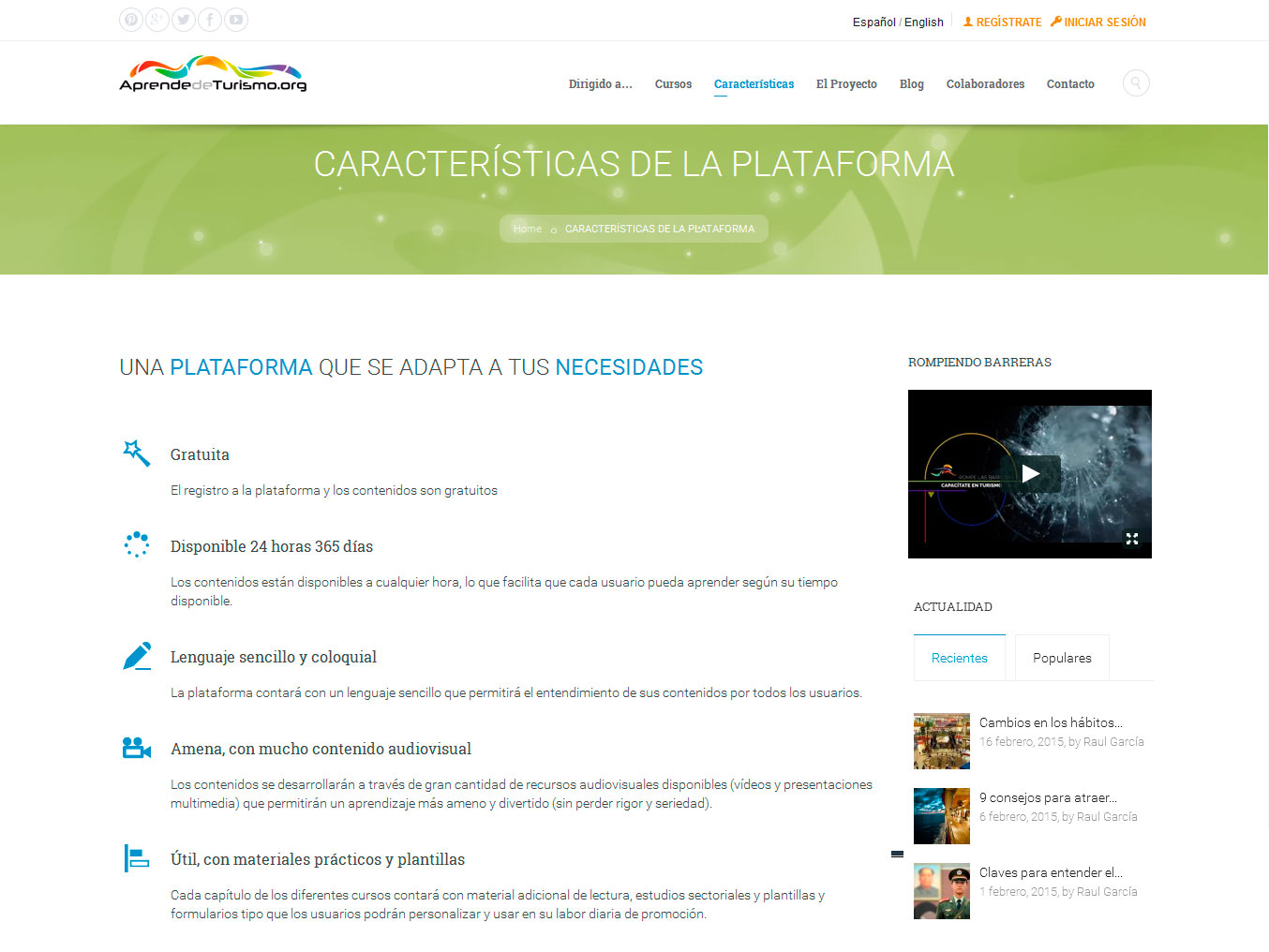 Captura Interior: Caracteristicas